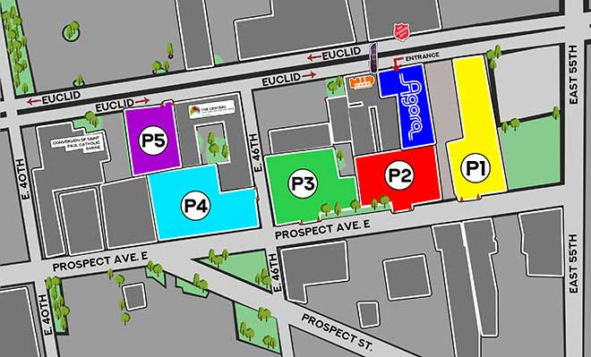 Agora Parking map
